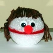 Styrofoam ball puppet.