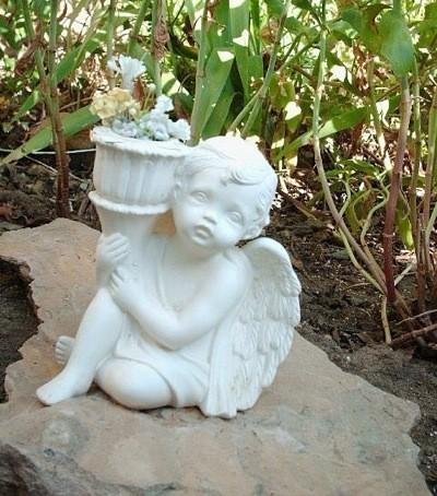 garden sculpture of angel