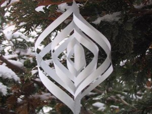 3-D Paper Ornament in tree