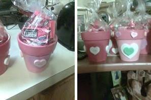 Valentine Painted Flowerpots
