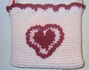 Crocheted Valentine Purse