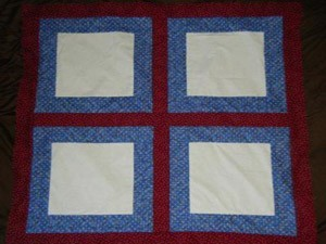 Red, white, and blue quilt blockx.