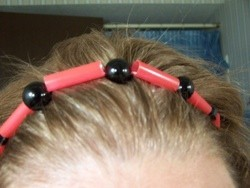 red and black headband