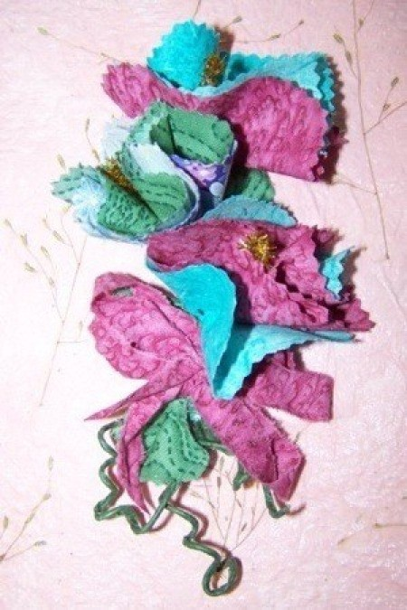 Fabric Easter Corsage