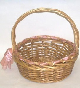 Elegant Country Ribbon and Roses Basket