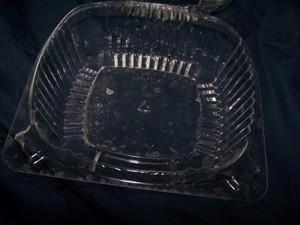 Plastic container.
