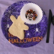 cookie on Halloween plate
