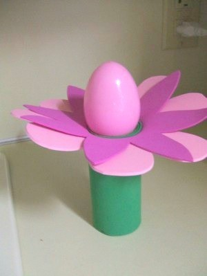 Plastic Easter egg flower.