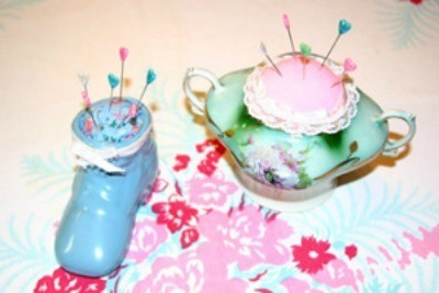 Vintage China Pin Cushions