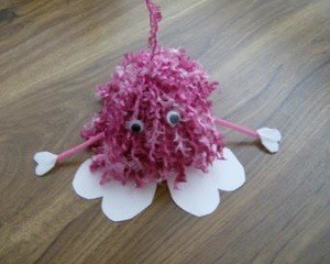 fuzzy yarn love bug