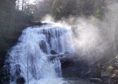 Bald River Falls in the North Carolina mountains.