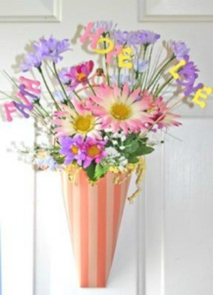 pokes in floral arrangement