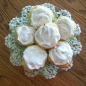 cream cheese cookies on plate
