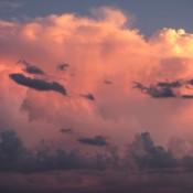 Evening clouds.