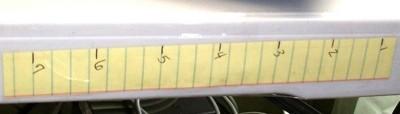 "6"" paper scale on desk"