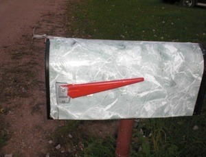 Update Mailbox With Shelf Paper