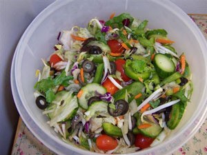 Kibbutz Israeli Salad in bowl