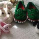 Crochet slippers.