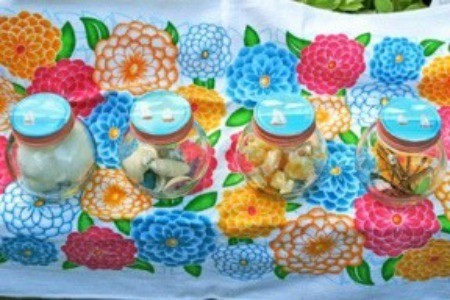 Beach Reminder Jars - Finished jars.