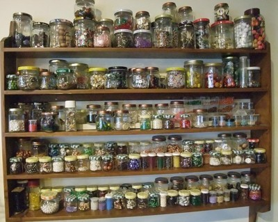 Organizing Beads and Buttons