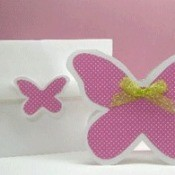 Mauve butterfly note cards.
