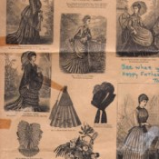 1850s newspaper fashion drawings