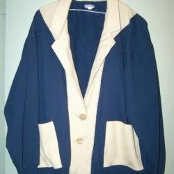 How to Turn a Sweatshirt Into a Jacket - Finished jacket.