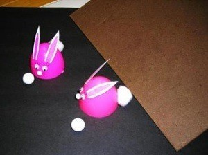 Plastic egg rabbit racers.