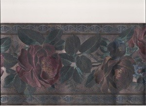Floral wallpaper border.