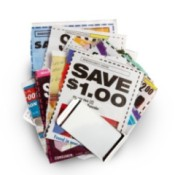 Stack of coupons.