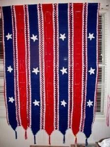crocheted flag