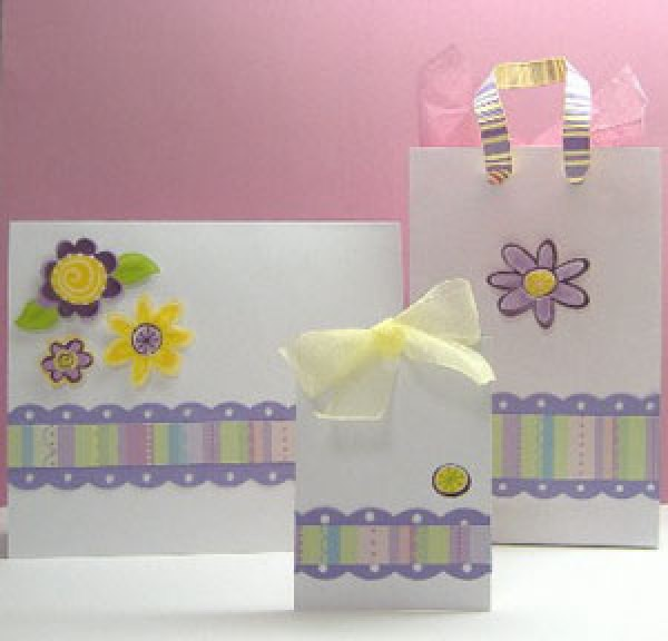 Card, tag, and gift bag.