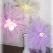 Tulle Button Spring Flowers