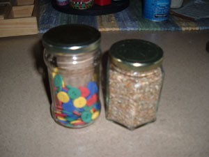 Filled jars.