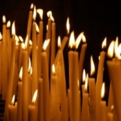 Candles Lit For St. Lucia's Day Festival