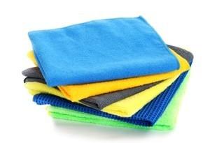 Microfiber cloths.