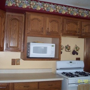 cabinets and countertop view