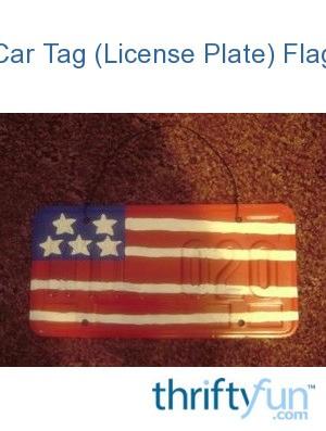 car tag license plate flag thriftyfun. Black Bedroom Furniture Sets. Home Design Ideas