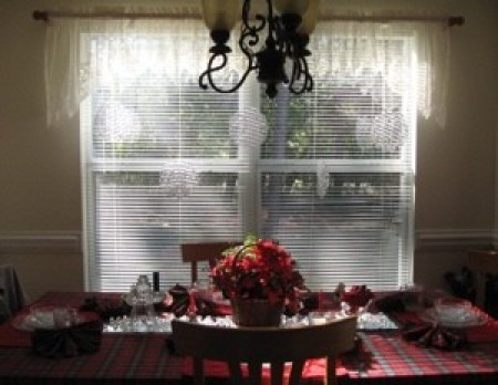 View of decorate window.