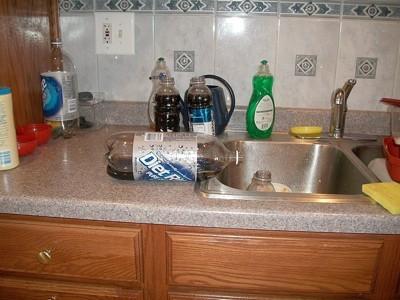 Filling Smaller Soda Bottles