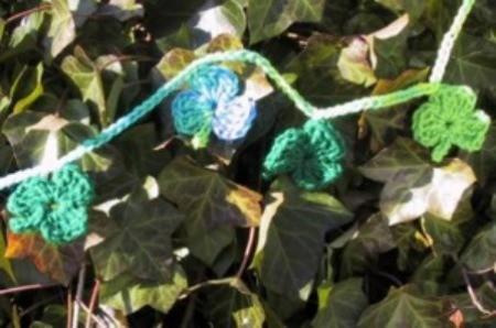 Crocheted Shamrock Garland