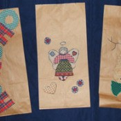 Lunch sack gift bags.