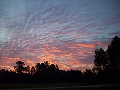 Pink cloud sunrise.