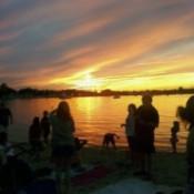 July 4th Beach Sunset