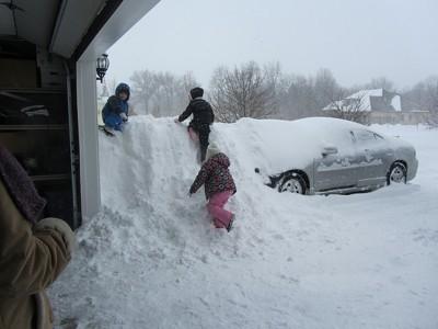 very deep snow