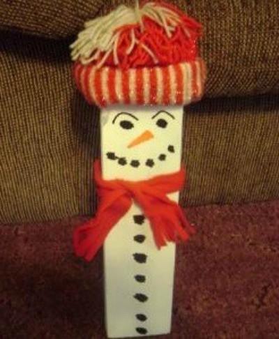 Making A 2x4 Snowman Thriftyfun