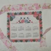 calendar tea towel apron