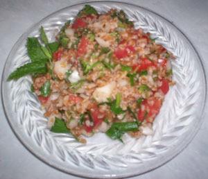 Plate of tabouli.