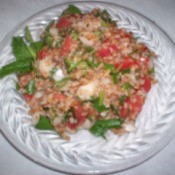 Plate of tabouli.