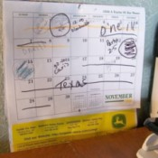 Post Large Calendar by Desk